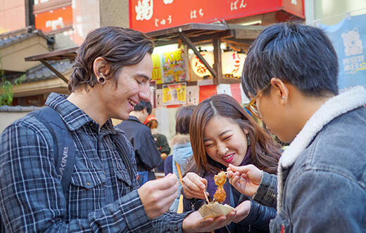 Osaka Local Foodie Tour in Dotonbori and Shinsekai
